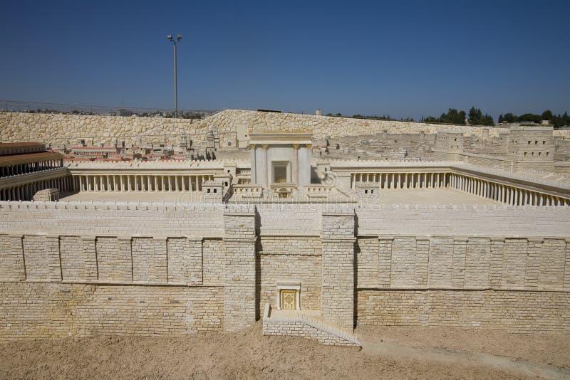Modelo do segundo museu de Israel do templo fotos de stock