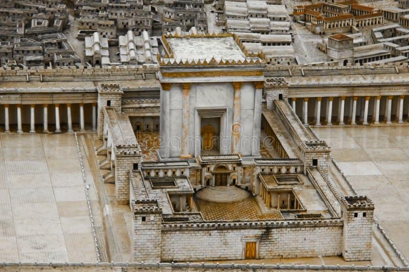 Modelo do segundo templo imagens de stock royalty free