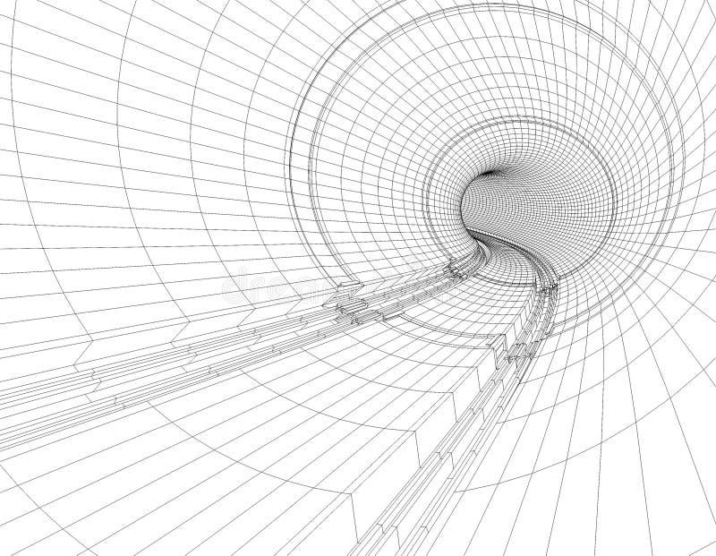 Modelo do túnel ilustração do vetor