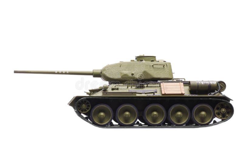 Modelo do tanque soviético imagem de stock