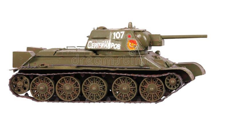 Modelo do tanque T-34 fotografia de stock royalty free