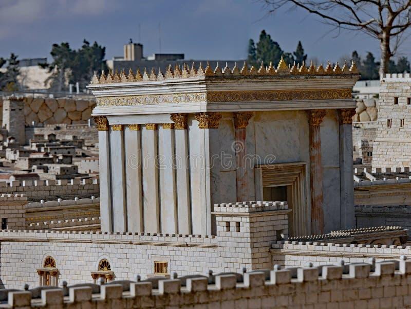 Modelo do templo antigo do Jerusalém imagem de stock
