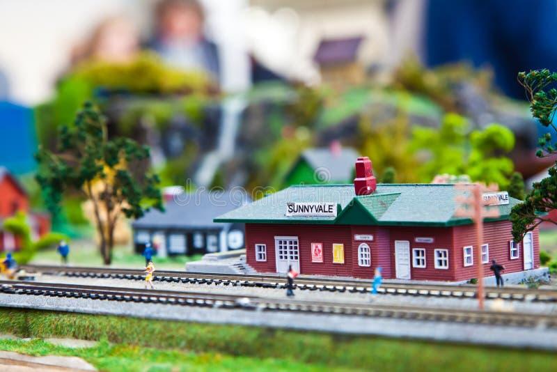 Modelo do trem foto de stock