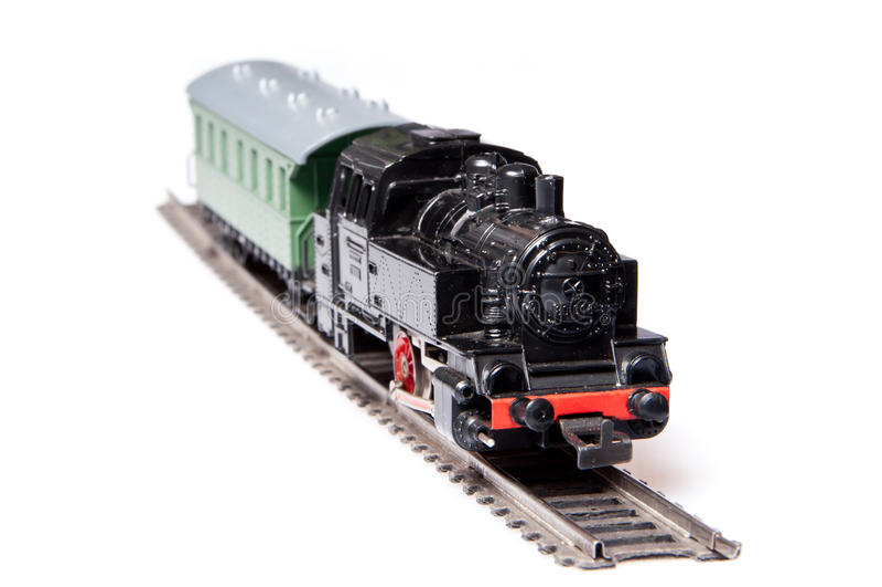 Modelo do trem do vapor do brinquedo fotos de stock