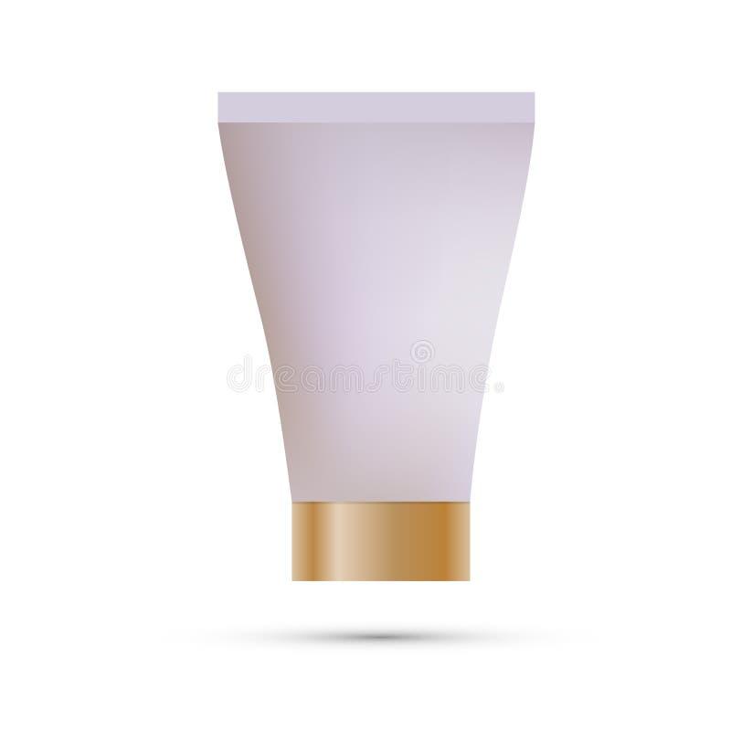 Modelo do tubo para o creme, pasta de dente, gel, molho, pintura, colagem Coleção de empacotamento Vetor ilustração stock