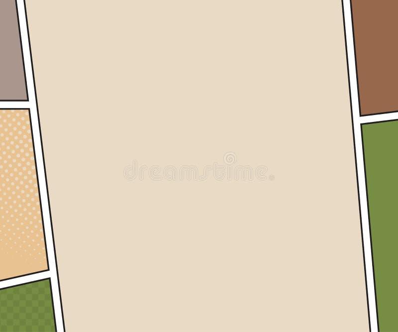 Modelo do vetor da página da banda desenhada estilo do pop art ilustração royalty free
