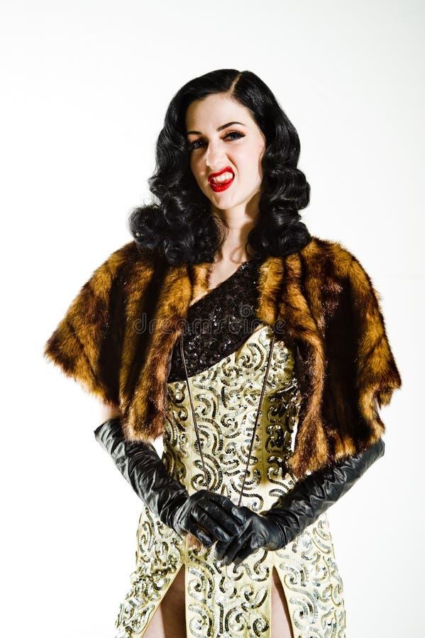 Modelo do vintage fotos de stock royalty free