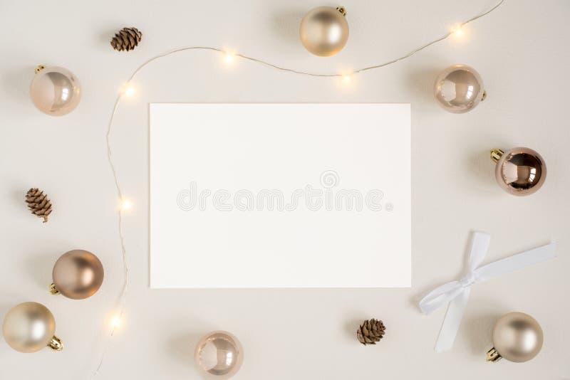 Modelo dos artigos de papelaria do Natal imagem de stock royalty free