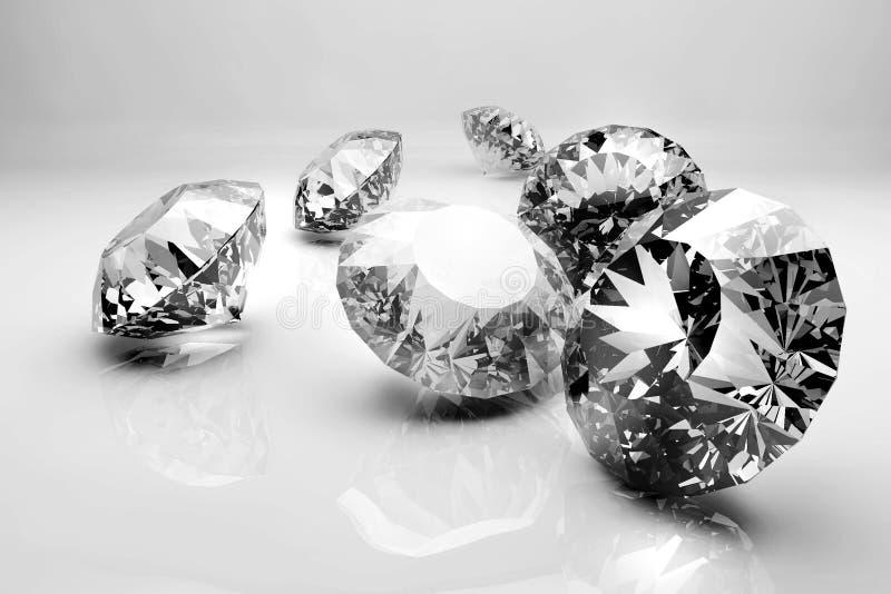 Modelo dos diamantes 3d fotografia de stock royalty free