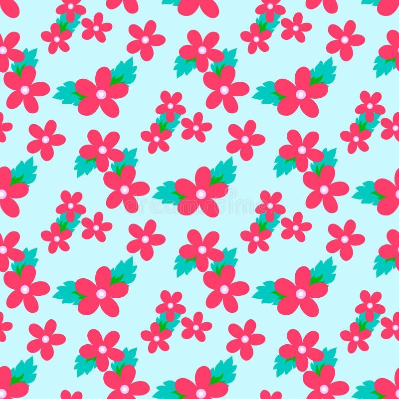 Modelo dulce del vector con la pequeña flor stock de ilustración