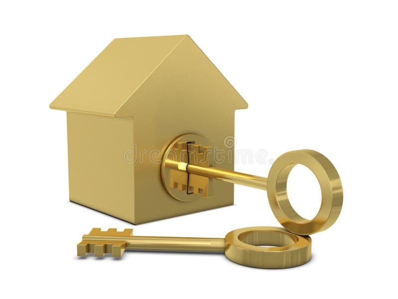 Modelo e chaves da casa ilustração do vetor