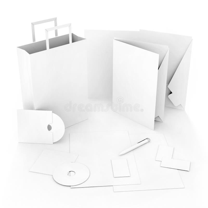 Modelo Editable de la identidad corporativa fotografía de archivo