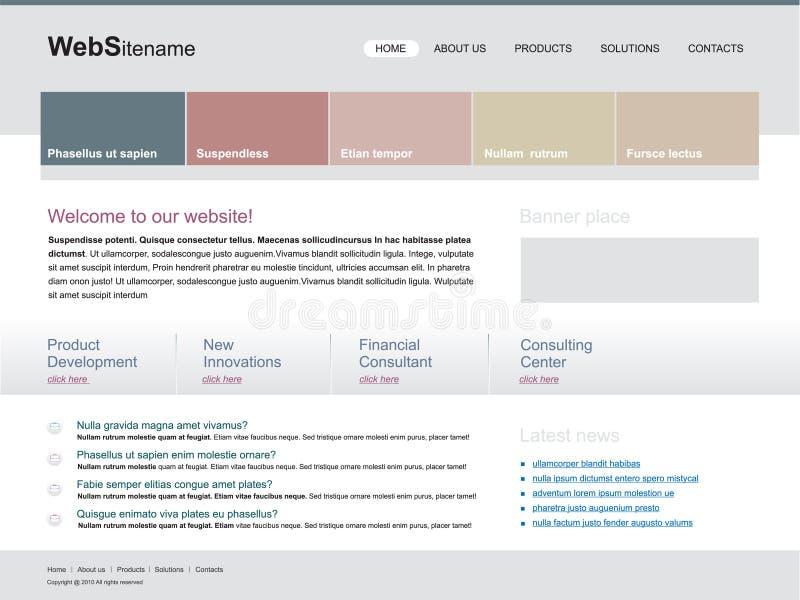 Modelo Editable del Web site ilustración del vector