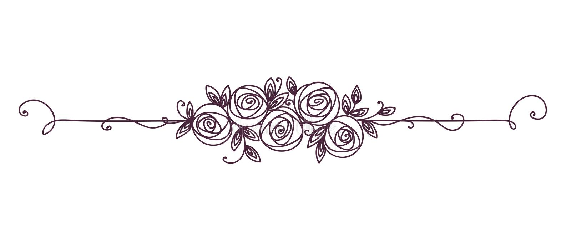 Modelo elegante floral blanco y negro Elemento del vintage para la línea arte de la decoración Esquema de la flor de Rose ilustración del vector