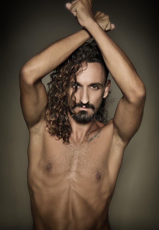 Modelo em topless foto de stock royalty free