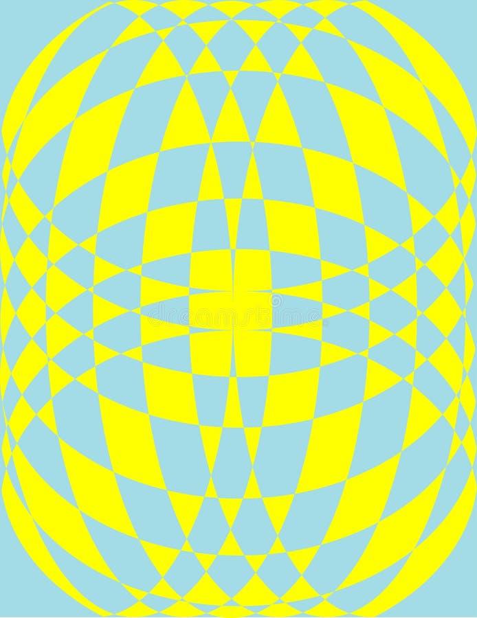 Modelo en amarillo y azul fotos de archivo libres de regalías