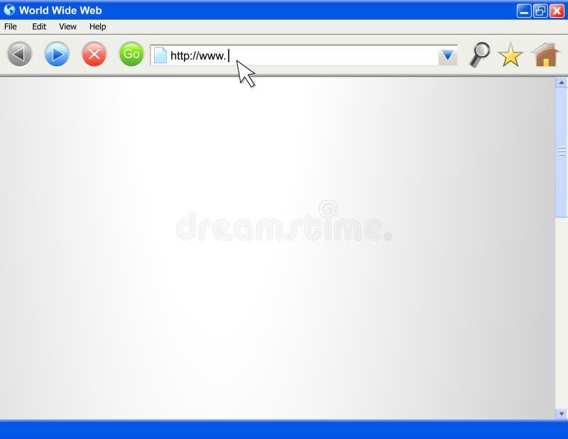 Modelo en blanco de la pantalla del hojeador de Internet libre illustration