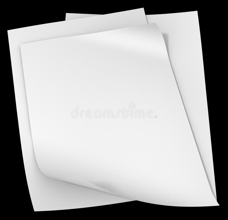 Modelo en blanco de los white pages aislado ilustración del vector