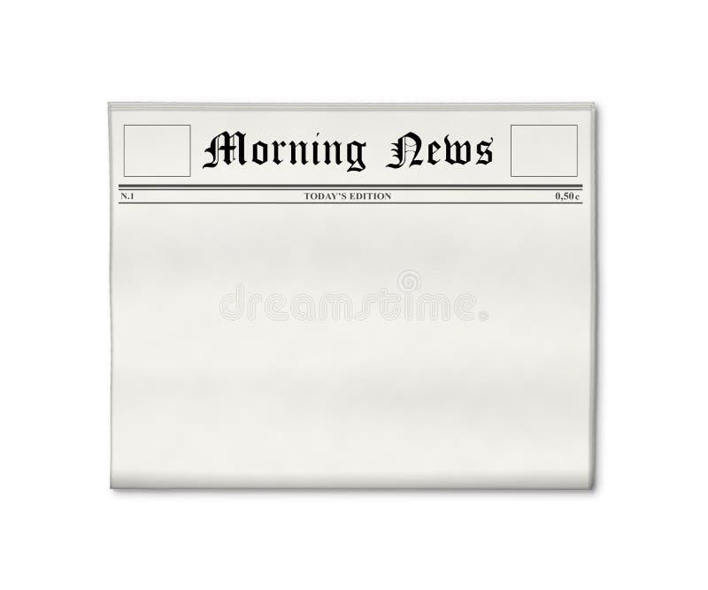 Modelo en blanco del periódico fotos de archivo