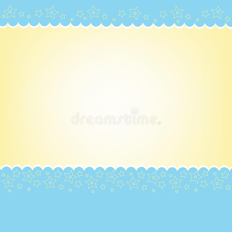 Modelo en blanco para la tarjeta de felicitaciones ilustración del vector