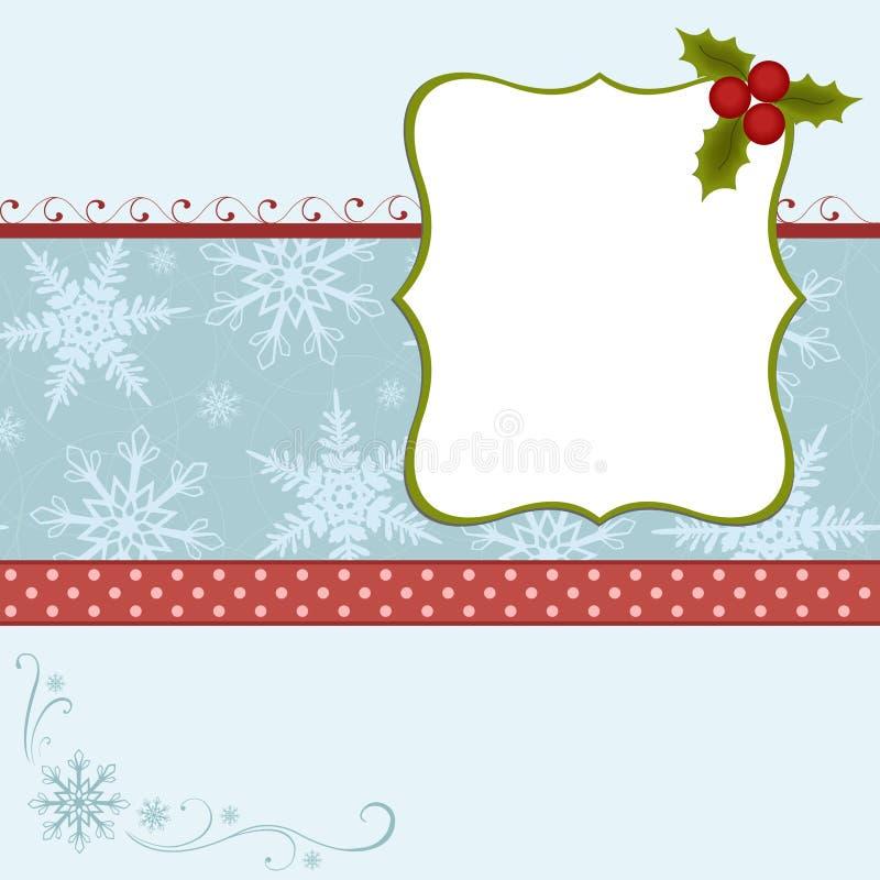 Modelo en blanco para la tarjeta de felicitaciones stock de ilustración