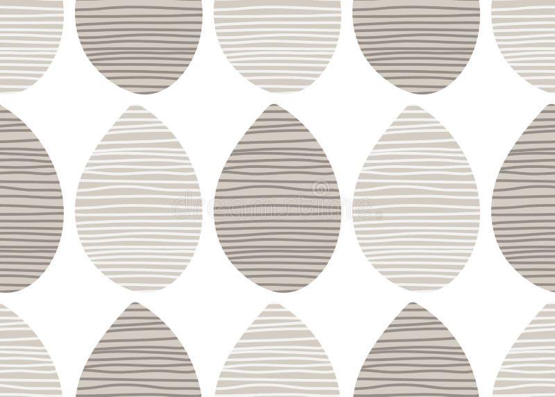Modelo en colores pastel inconsútil del vector Ornamento rayado de la tela Ejemplo sin fin de la impresión de la materia textil E ilustración del vector