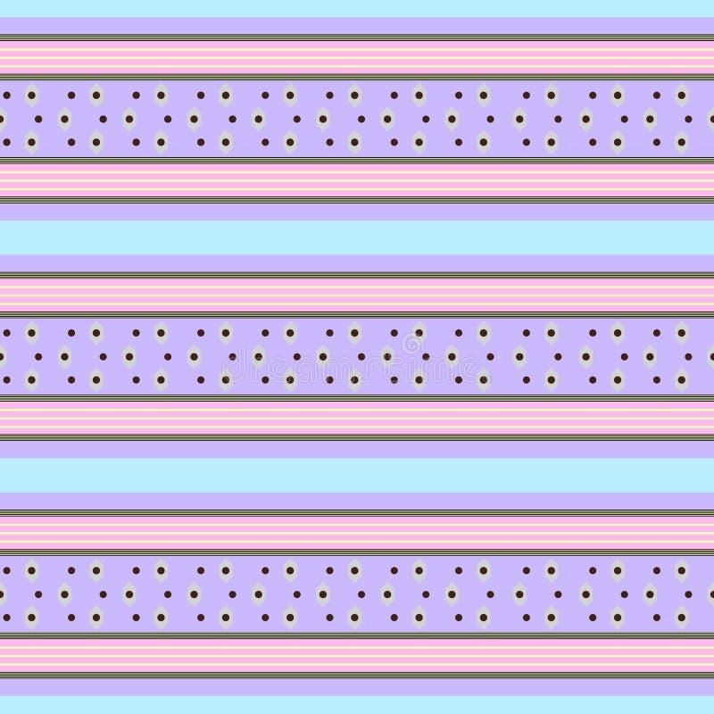 Modelo en colores pastel retro con las rayas horizontales libre illustration