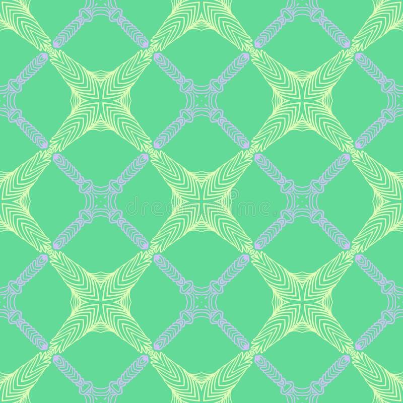 Modelo en el verde esmeralda, líneas elegantes finas stock de ilustración