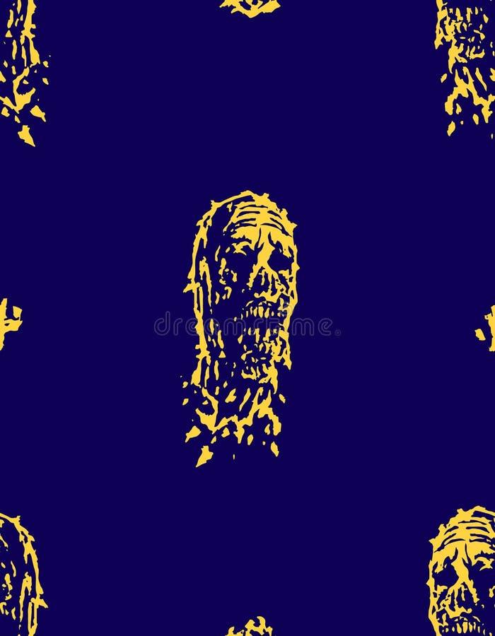 Modelo espeluznante de la cabeza muerta Ilustración del vector stock de ilustración