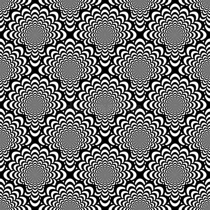 Modelo espiral monocromático inconsútil del diseño libre illustration