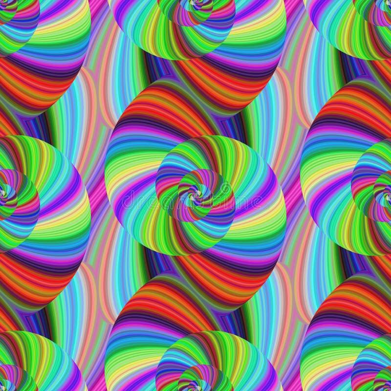 Modelo espiral psicodélico abstracto inconsútil libre illustration