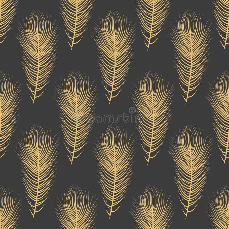 Modelo exquisito de la naturaleza del plumaje ilustración del vector