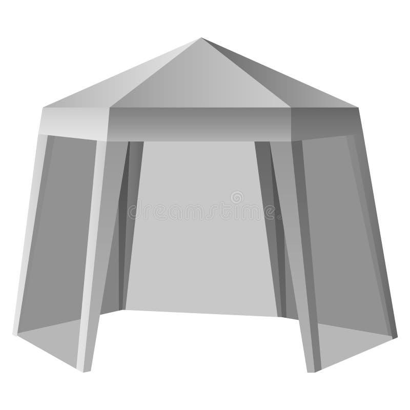 Modelo exterior relativo à promoção da barraca, estilo realístico ilustração royalty free