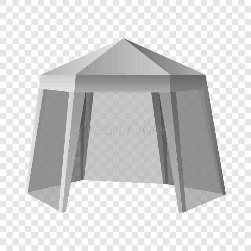 Modelo exterior relativo à promoção da barraca, estilo realístico ilustração do vetor