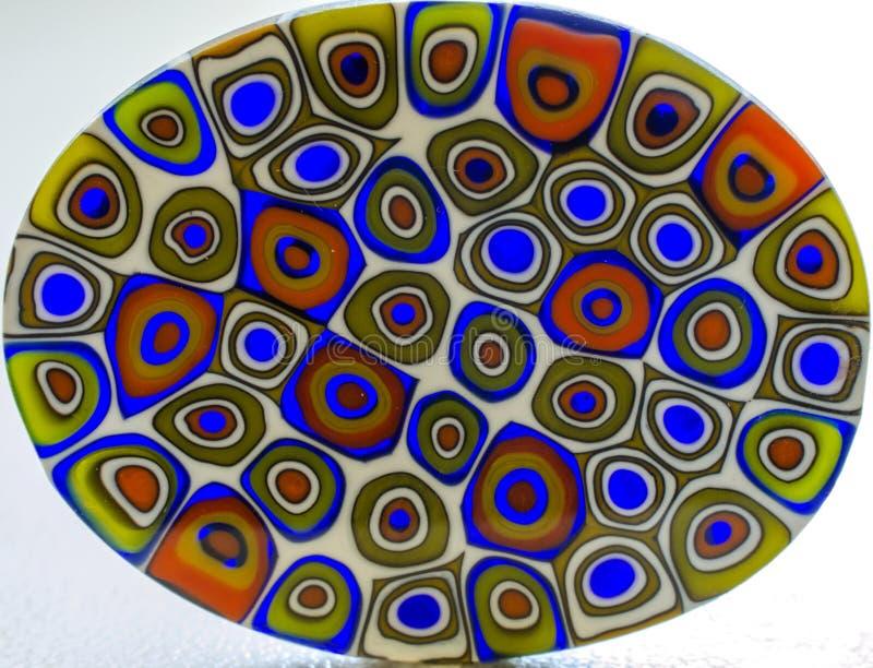 Modelo extraño del vidrio de Murano imágenes de archivo libres de regalías