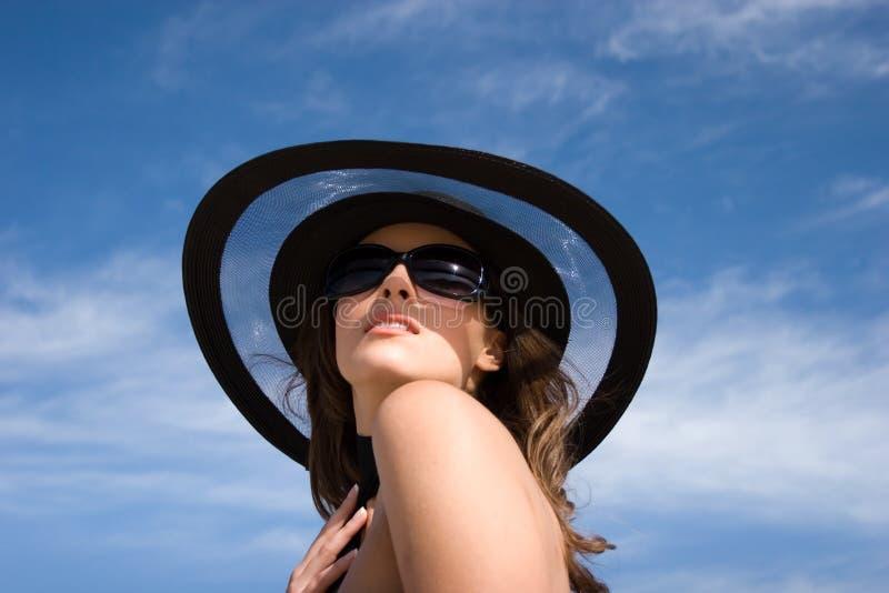 Modelo fêmea à moda 'sexy' foto de stock royalty free