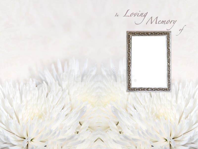 Modelo fúnebre del programa imagen de archivo