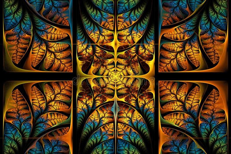 Modelo fabuloso del fractal. Colección - follaje del árbol. libre illustration