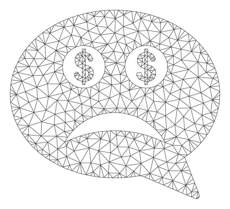 Modelo falido de Smiley Message Vetora Mesh Network ilustração royalty free