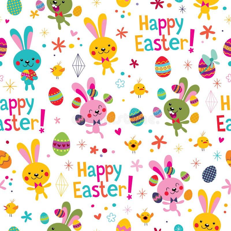Modelo feliz de Pascua ilustración del vector