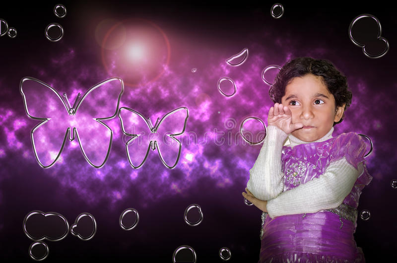 Modelo feliz dos jovens da criança da menina imagem de stock royalty free