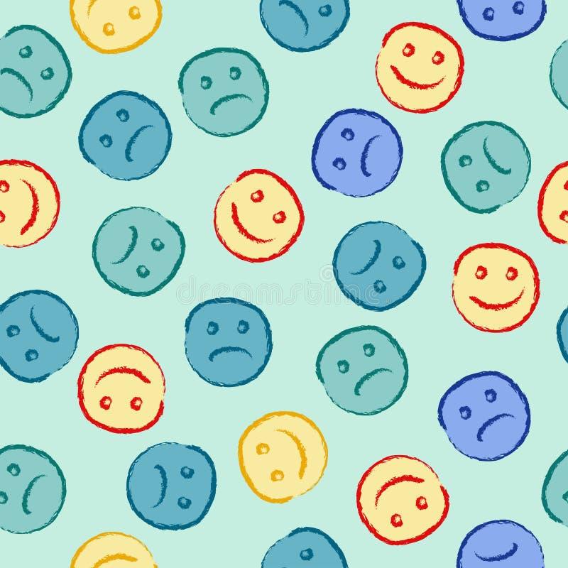 Modelo feliz y triste de la cara libre illustration