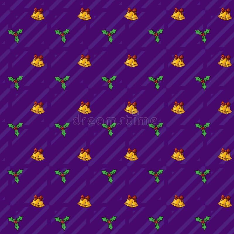 Modelo festivo de Bells_Seamless de la Navidad con formato del png del jpg fotos de archivo