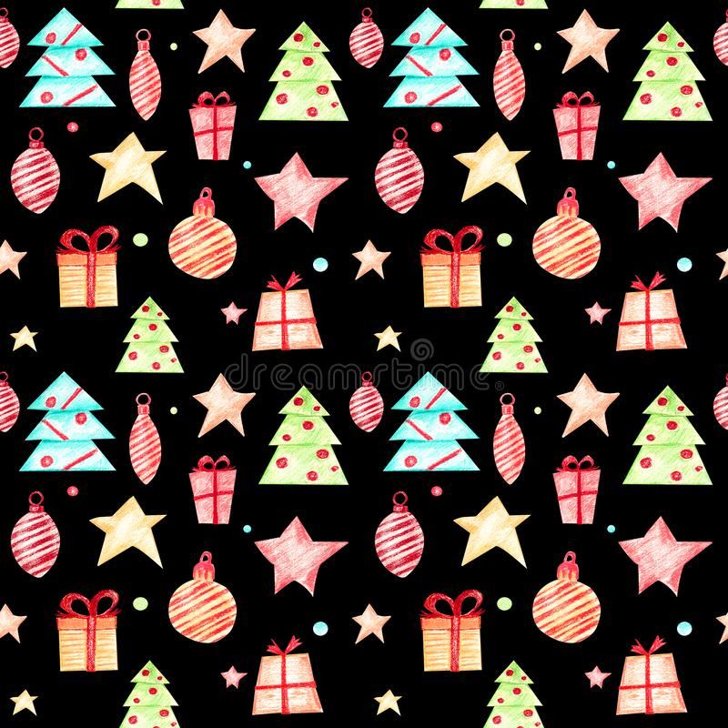 Modelo festivo de la Navidad ilustración del vector