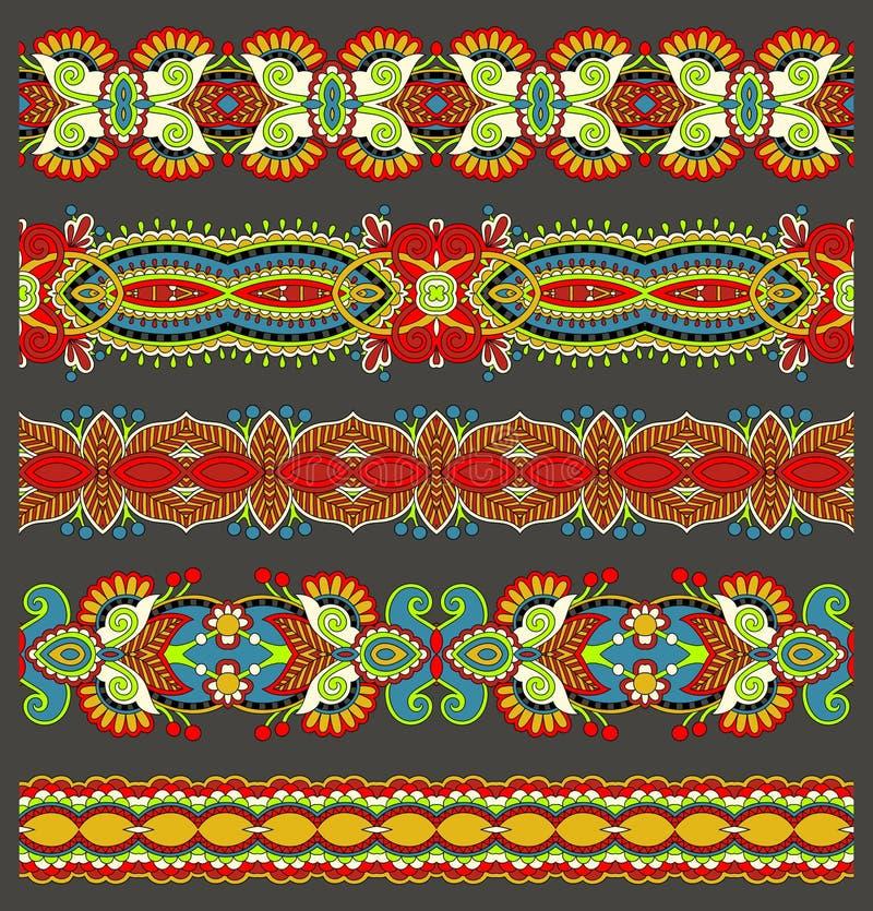 Modelo floral étnico inconsútil de la raya de Paisley, libre illustration
