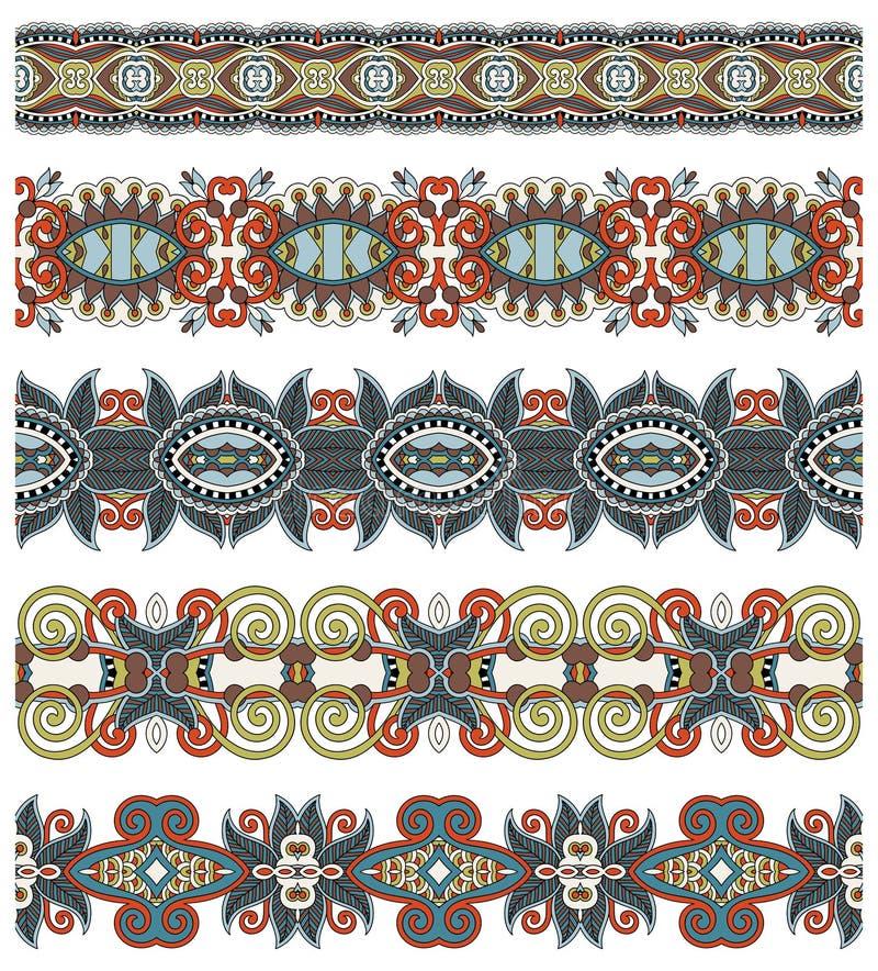 Modelo floral étnico inconsútil de la raya de Paisley, ilustración del vector