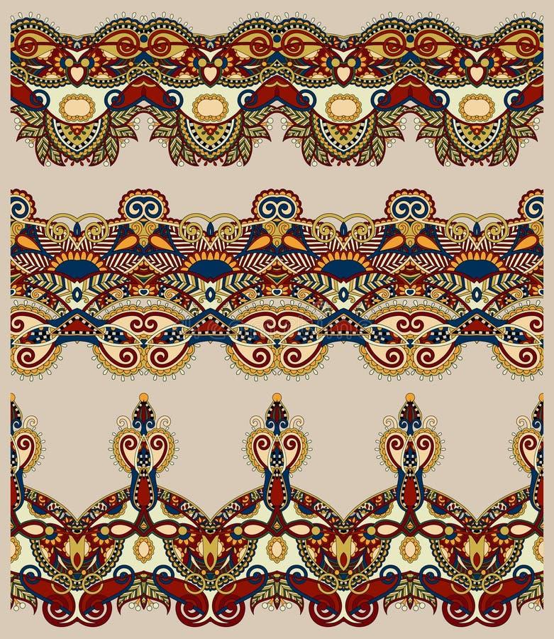 Modelo floral étnico inconsútil de la raya de Paisley libre illustration