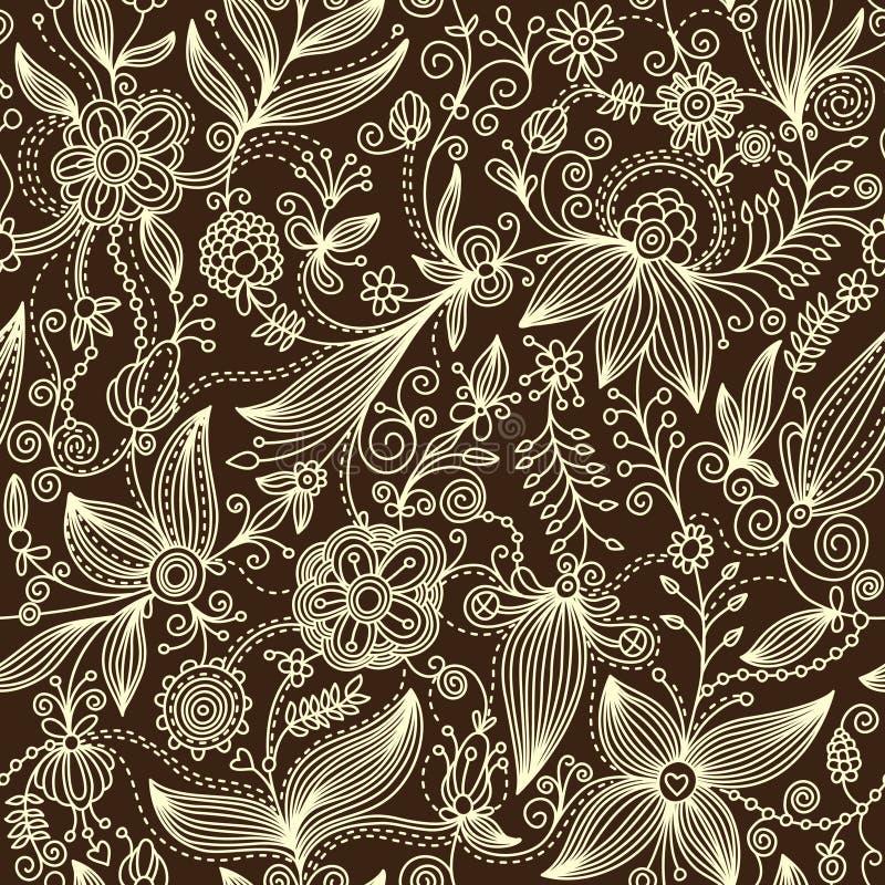 Modelo floral stock de ilustración