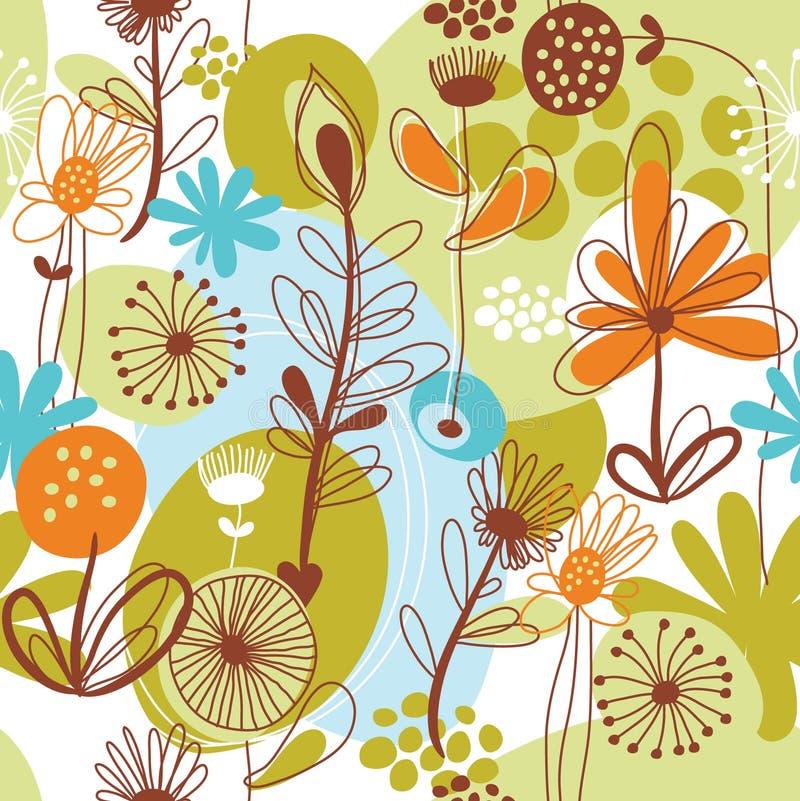 Modelo floral ilustración del vector