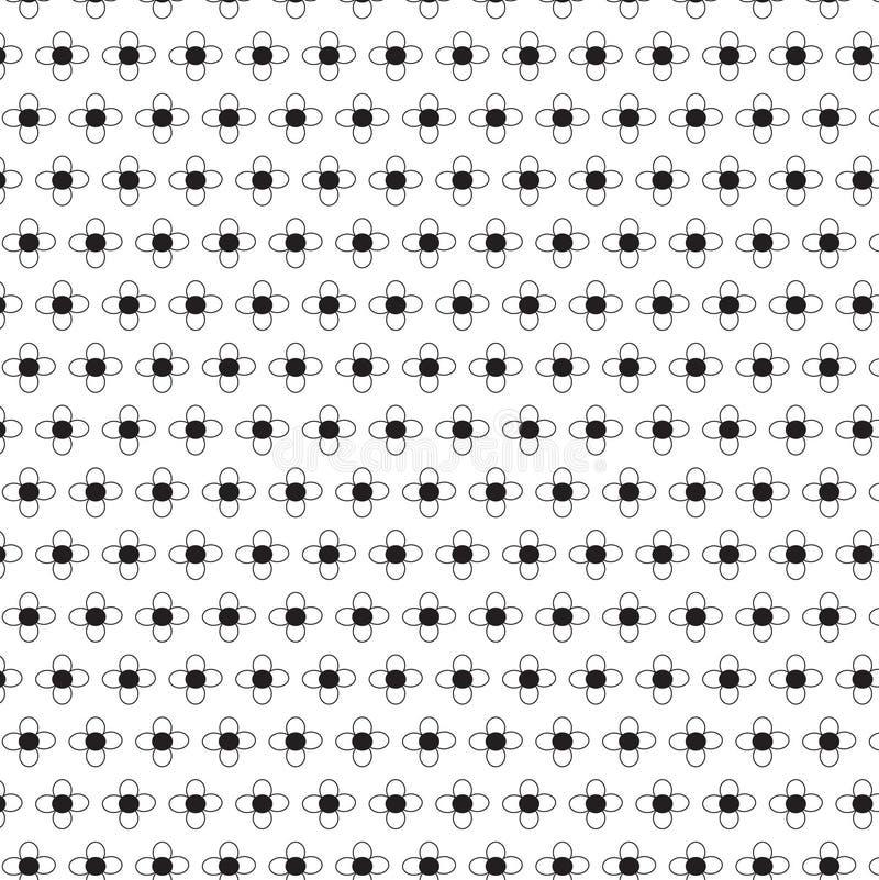 Modelo floral abstracto inconsútil Fondo beige y blanco del vector Ornamento geométrico de la hoja Modelo moderno gráfico stock de ilustración